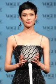 Model Tao Okamoto is presented an award during the 'Vogue Nippon Women of the Year 2010' award ceremony at Grand Hyatt Tokyo on November 22 2010 in...
