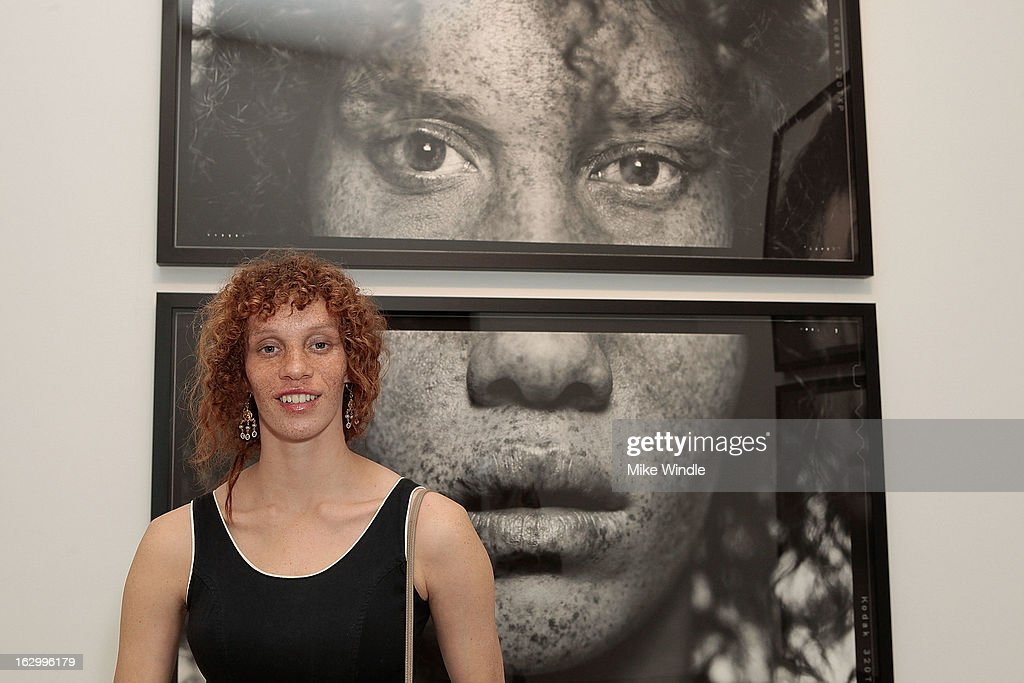 Model Tarren Johnson attends the Samuel Bayer Ace Gallery Exhibit Opening, presented by Panavision at Ace Gallery on March 2, 2013 in Beverly Hills, California.
