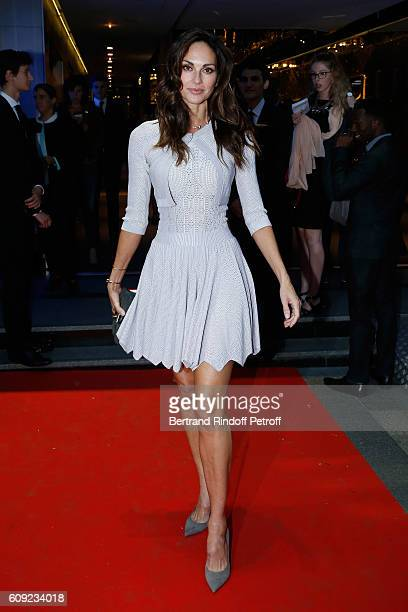 Model Tasha de Vasconcelos attends the 'Cezanne et Moi' movie Premiere to Benefit 'Claude Pompidou Foundation' Held at UGC Normandie in Paris on...