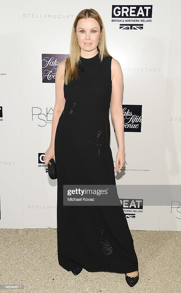 Model Tatiana Sorokko arrives at the Fourth Annual Autumn Party With Stella McCartney on October 30, 2013 in Los Angeles, California.