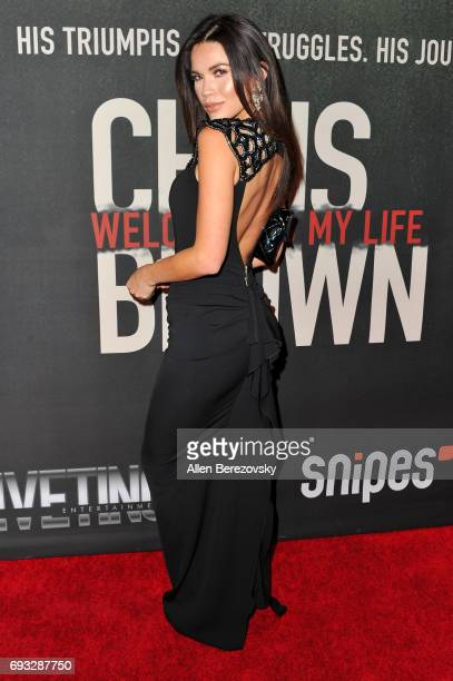 Model Tawny Jordan attends the premiere of Fathom Events' 'Chris Brown Welcome To My Life' at Regal LA Live Stadium 14 on June 6 2017 in Los Angeles...