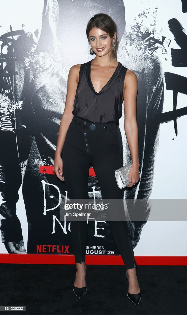 Model Taylor Hill attends the 'Death Note' New York premiere at AMC Loews Lincoln Square 13 theater on August 17, 2017 in New York City.