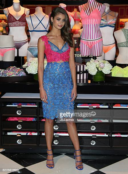 Model Taylor Hill attends Victoria's Secret Launches The All New Bralette Collection on April 19 2016 in Santa Monica California