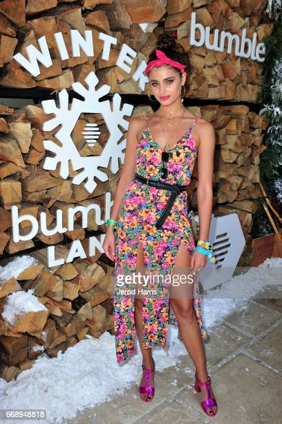 Model Taylor Hill attends Winter Bumbleland Day 1 on April 15 2017 in Rancho Mirage California