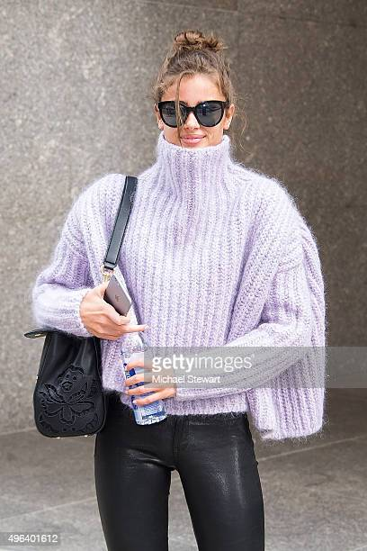 Model Taylor Hill is seen in Midtown on November 9 2015 in New York City