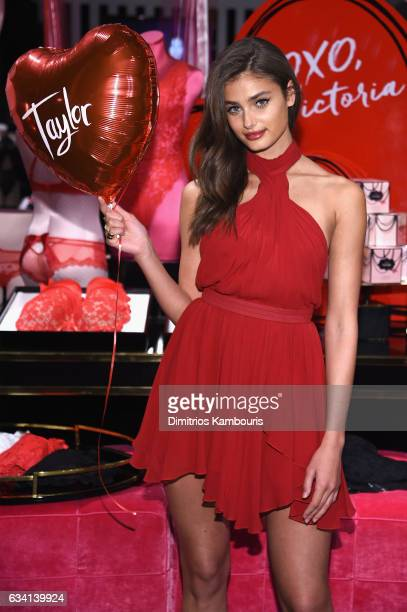 Model Taylor Hill poses as Victoria's Secret Angels Josephine Skriver Sara Sampaio and Taylor Hill share their hottest Valentine's Day gift picks at...