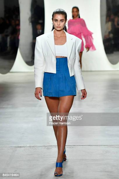 Model Taylor Hill walks the runway for Prabal Gurung fashion show during New York Fashion Week The Shows at Gallery 2 Skylight Clarkson Sq on...