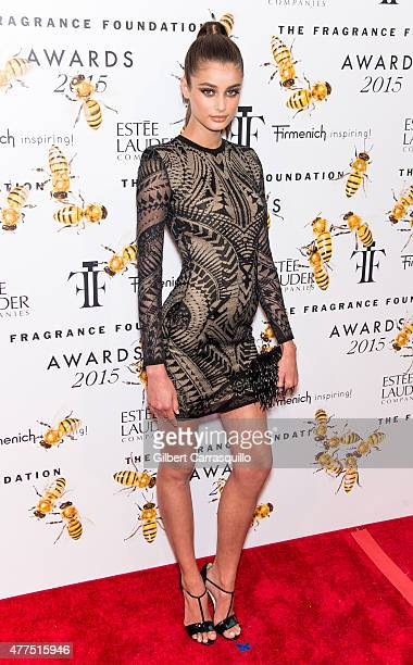 Model Taylor Marie Hill attends 2015 Fragrance Foundation Awards at Alice Tully Hall at Lincoln Center on June 17 2015 in New York City