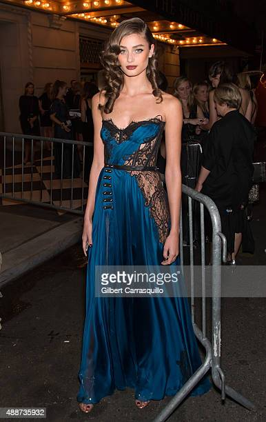 Model Taylor Marie Hill attends 2015 Harper's BAZAAR ICONS Event at The Plaza Hotel on September 16 2015 in New York City