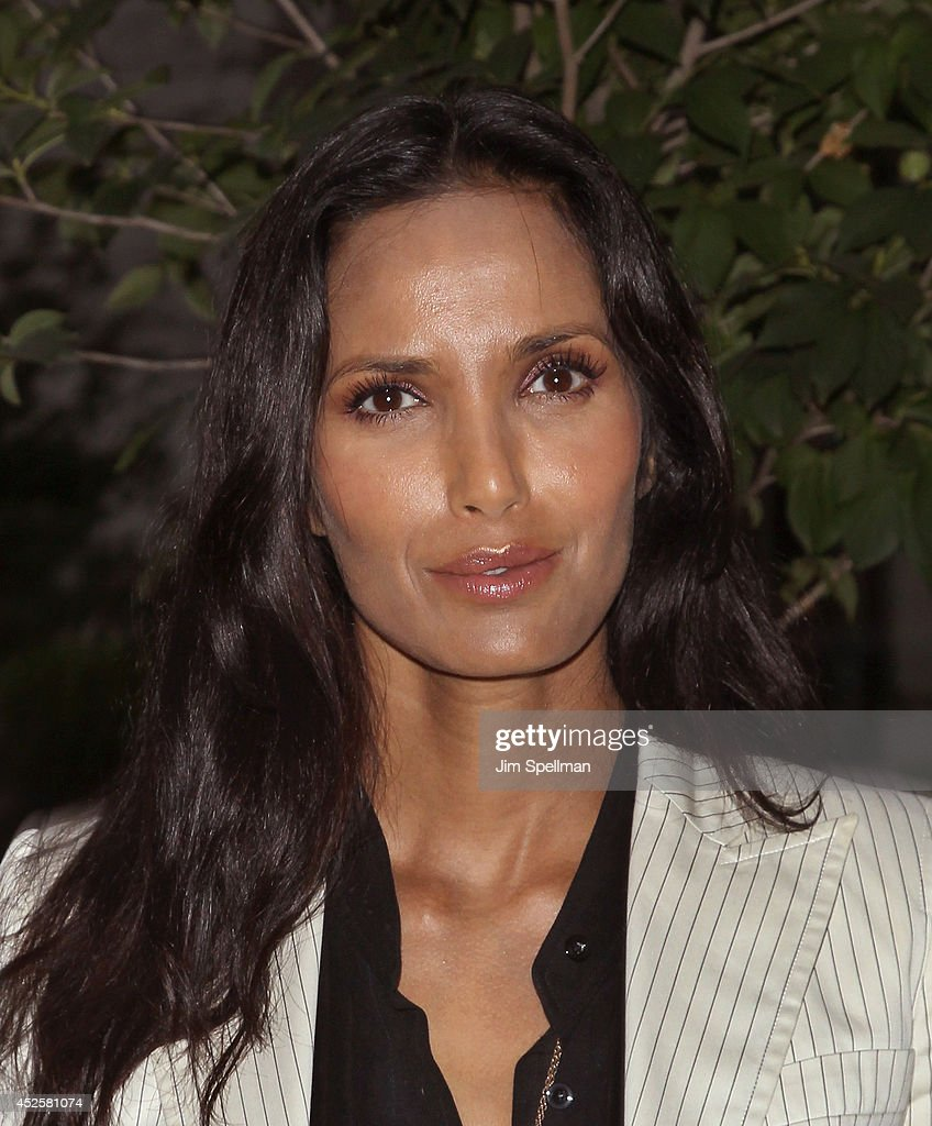 Model/ television host Padma Lakshmi attends the Cinema Society Screening Of 'The Honorable Woman' at Crosby Street Hotel on July 23, 2014 in New York City.