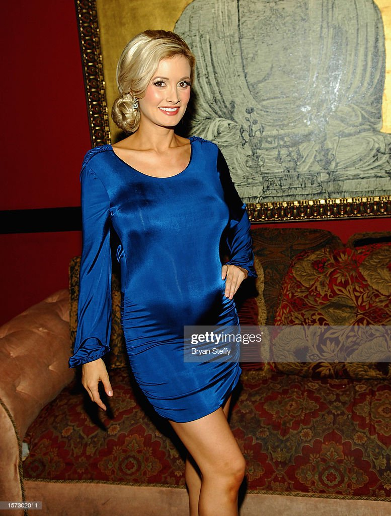 Model & television personality Holly Madison appears at the Animal Foundation's Shelter Elves kick off celebration at the House of Blues Foundation Room inside the Mandalay Bay Resort & Casino on December 1, 2012 in Las Vegas, Nevada.