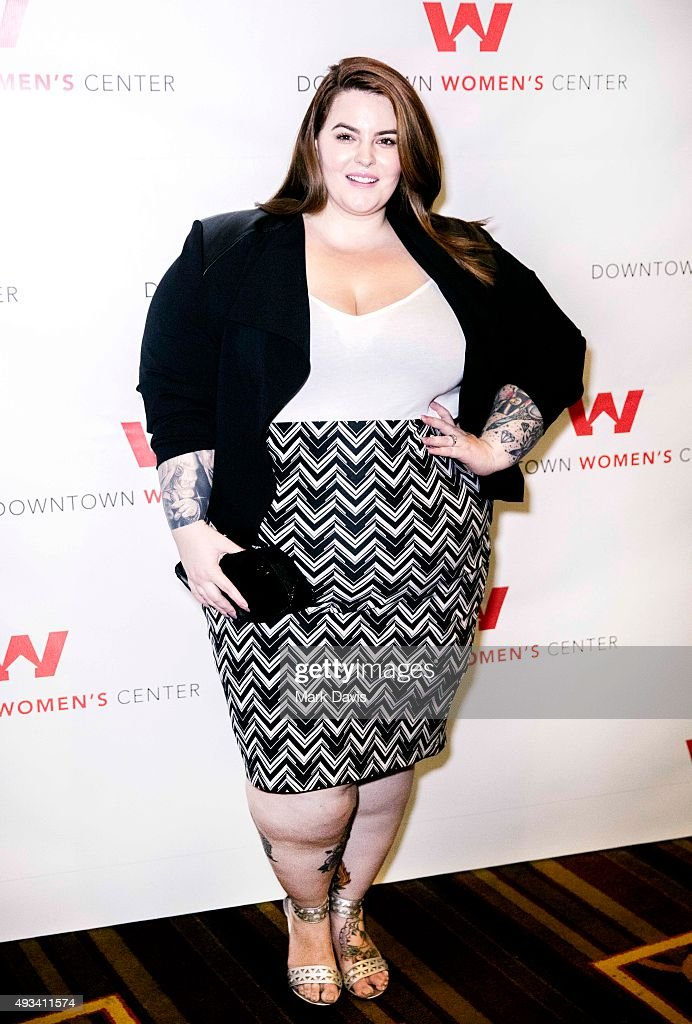 Model Tess Holliday arrives to the 'Dinner with a Cause 18th Gala' held at the JW Marriott Los Angeles at LA LIVE on October 15 2015 in Los Angeles...