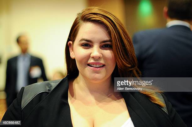 Model Tess Holliday attends Dinner With A Cause 18th Annual Gala at JW Marriott Los Angeles at LA LIVE on October 15 2015 in Los Angeles California