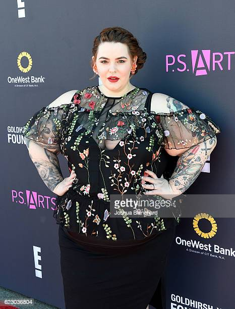 Model Tess Holliday attends PS ARTS and OneWest Bank's Express Yourself 2016 at Barker Hangar on November 13 2016 in Santa Monica California