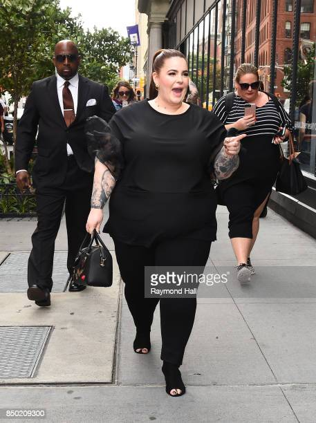 Model Tess Holliday is seen walking in Soho on September 20 2017 in New York City