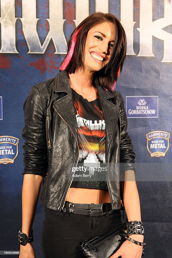 Model Tessa Bergmeier arrives for the fifth Metal Hammer Awards at Kesselhaus on September 13, 2013 in Berlin, Germany. The annual prizes are given by Metal Hammer, a German music magazine specialized in Heavy Metal and Hard Rock.