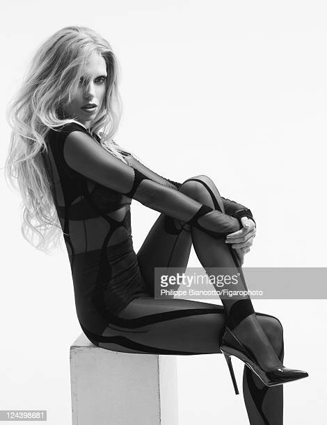 Model Theodora Richards is photographed for Madame Figaro on May 12 2011 in Paris France Published image Figaro ID# 100942010 Bodysuit by Thierry...