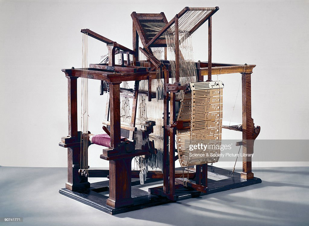 Model This loom was the first machine of any kind to be controlled by punch cards following Frenchman Basile Bouchon's use of perforated paper rolls...