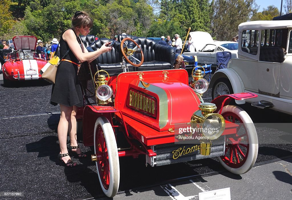 1903 model Thomas 18 is on display during Concours d'Elegance at Greystone Mansion in Beverly Hills, Los Angeles, USA, on May 2, 2016. 140 classic automobiles from 18 different categories are displayed during the Concours d'Elegance classic automobile show.
