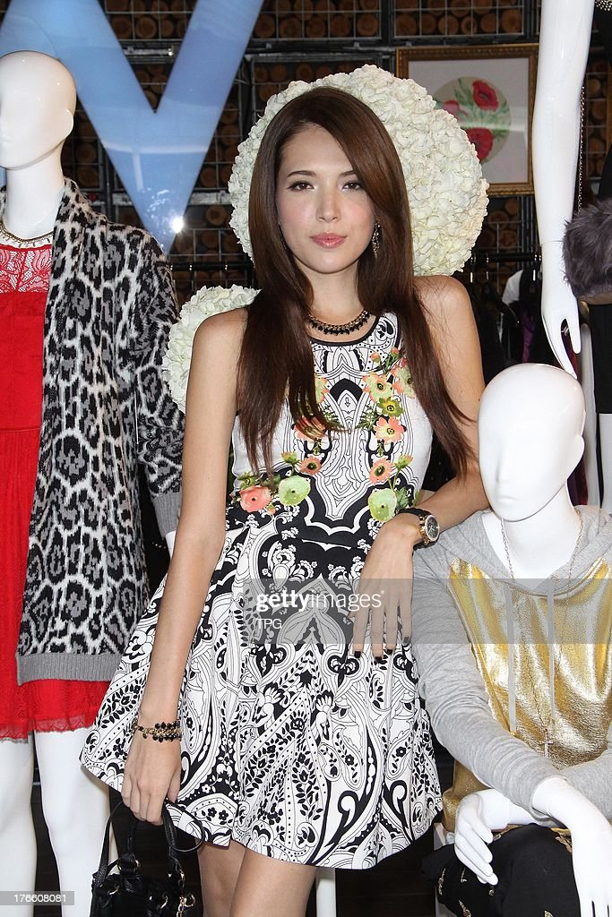 Model Tiffany attends press conference of Juicy Couture in Taipei,China on Thursday August 15,2013.
