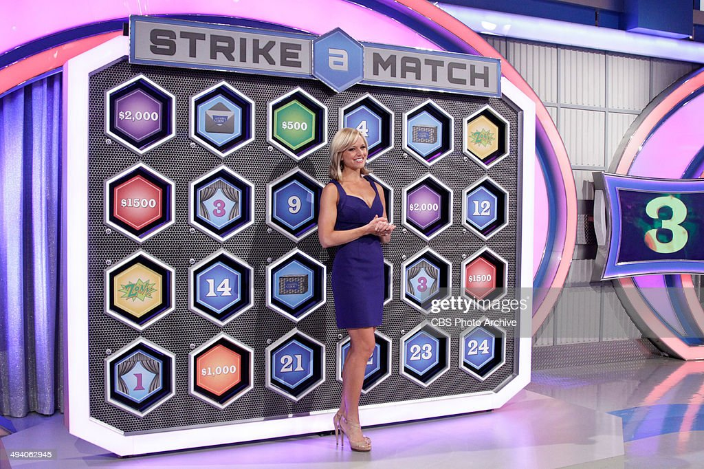 Model Tiffany Coyne stands before the board for the Strike a Match game awaiting her cue for what to turnover next, on LET'S MAKE A DEAL, airing Wednesday, June 25 (check local listings) on the CBS Television Network.