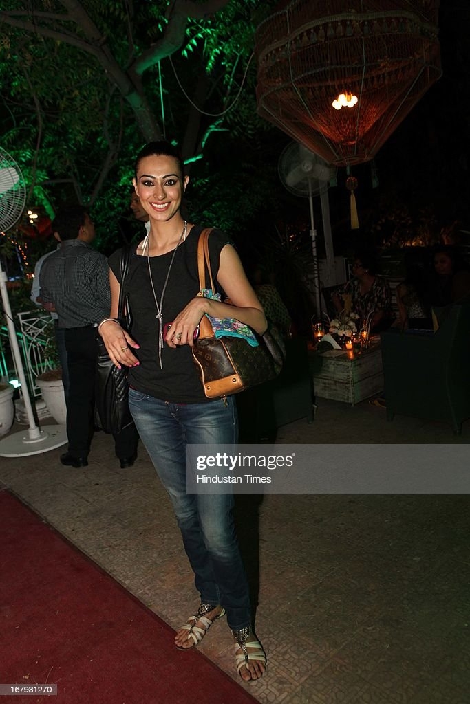 Model Tina Chatwal at the launch of Spring collection of Fashion Label Wakalma at Olive Bar & Kitchen, Mehrauli on on April 29, 2013 in New Delhi, India.