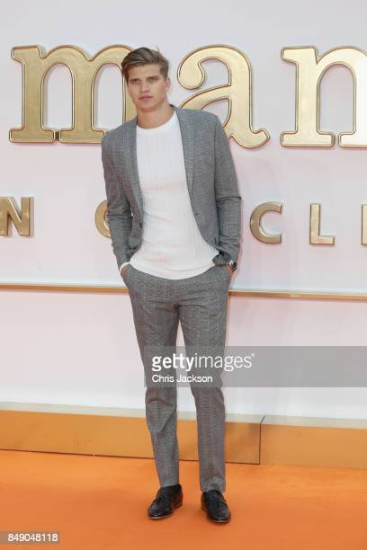Model Toby HuntingtonWhiteley attends the 'Kingsman The Golden Circle' World Premiere held at Odeon Leicester Square on September 18 2017 in London...