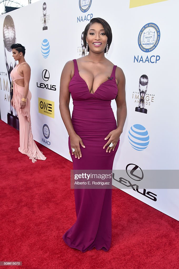 Model <a gi-track='captionPersonalityLinkClicked' href=/galleries/search?phrase=Toccara+Jones&family=editorial&specificpeople=2253497 ng-click='$event.stopPropagation()'>Toccara Jones</a> attends the 47th NAACP Image Awards presented by TV One at Pasadena Civic Auditorium on February 5, 2016 in Pasadena, California.