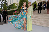 Model Toni Garrn and Model Petra Nemcova attend amfAR's 22nd Cinema Against AIDS Gala Presented By Bold Films And Harry Winston at Hotel du...