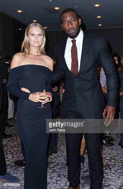 Model Toni Garrn and professional basketball player Amar'e Stoudemire attend The Daily Front Row's Third Annual Fashion Media Awards at the Park...