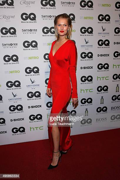 Model Toni Garrn arrives at the GQ Men of the year Award 2015 at Komische Oper on November 5 2015 in Berlin Germany