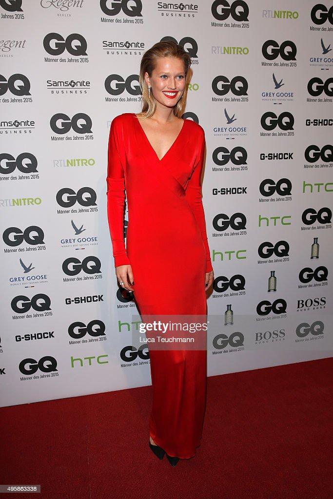 Model Toni Garrn arrives at the GQ Men of the year Award 2015 at Komische Oper on November 5 2015 in Berlin Germany
