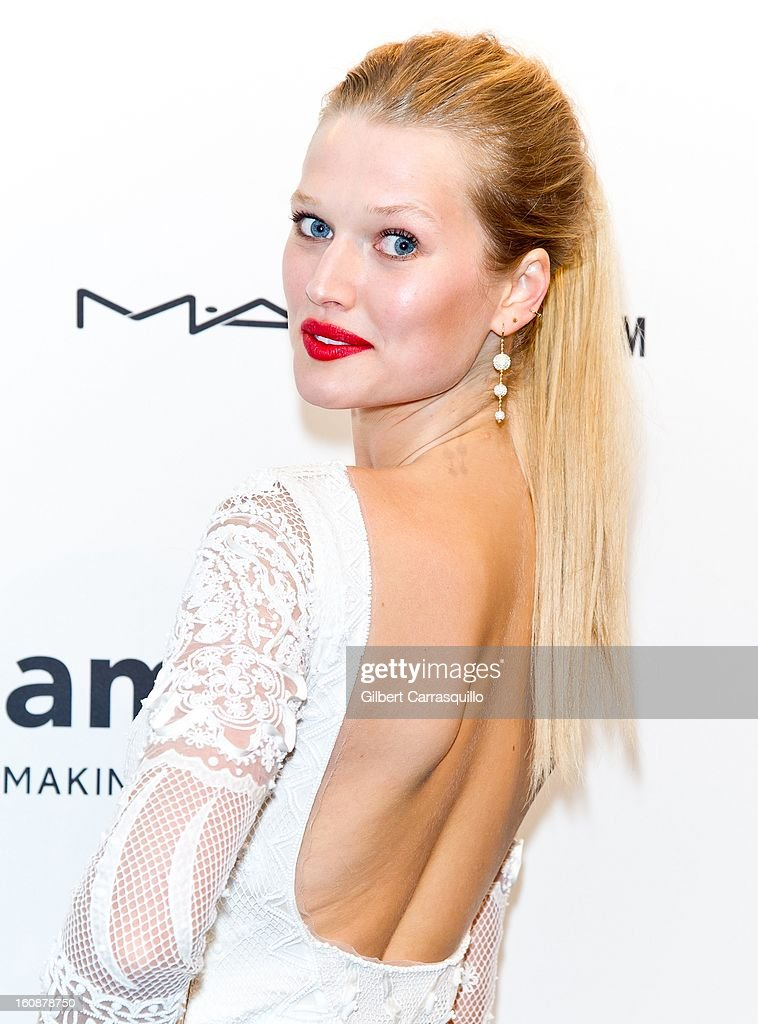 Model Toni Garrn attends amfAR New York Gala To Kick Off Fall 2013 Fashion Week at Cipriani, Wall Street on February 6, 2013 in New York City.