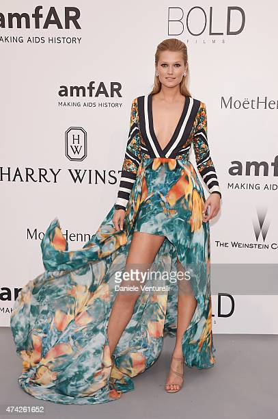 Model Toni Garrn attends amfAR's 22nd Cinema Against AIDS Gala Presented By Bold Films And Harry Winston at Hotel du CapEdenRoc on May 21 2015 in Cap...