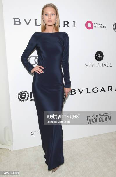 Model Toni Garrn attends Bulgari at the 25th Annual Elton John AIDS Foundation's Academy Awards Viewing Party at on February 26 2017 in Los Angeles...