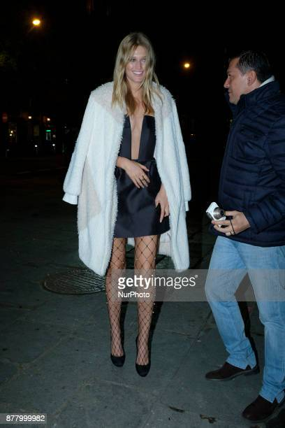 model Toni Garrn attends CALZEDONIA party in Madrid Spain November 23 2017