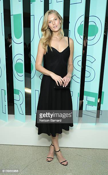 Model Toni Garrn attends HUGO BOSS and GUGGENHEIM celebration of the 20th Anniversary of the HUGO BOSS Prize at Solomon R Guggenheim Museum on...
