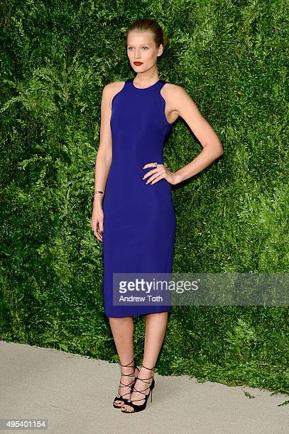 Model Toni Garrn attends the 12th annual CFDA/Vogue Fashion Fund Awards at Spring Studios on November 2 2015 in New York City
