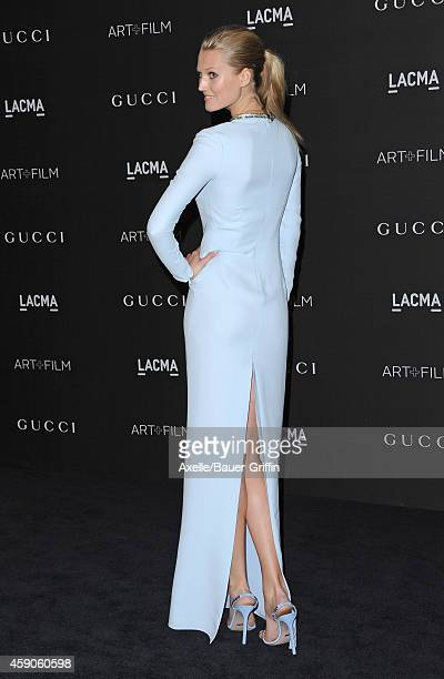 Model Toni Garrn attends the 2014 LACMA Art Film Gala Honoring Barbara Kruger And Quentin Tarantino Presented By Gucci at LACMA on November 1 2014 in...