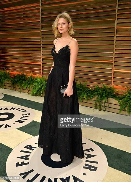 Model Toni Garrn attends the 2014 Vanity Fair Oscar Party Hosted By Graydon Carter on March 2 2014 in West Hollywood California