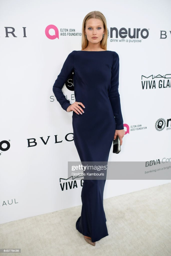 Model Toni Garrn attends the 25th Annual Elton John AIDS Foundation's Academy Awards Viewing Party at The City of West Hollywood Park on February 26, 2017 in West Hollywood, California.