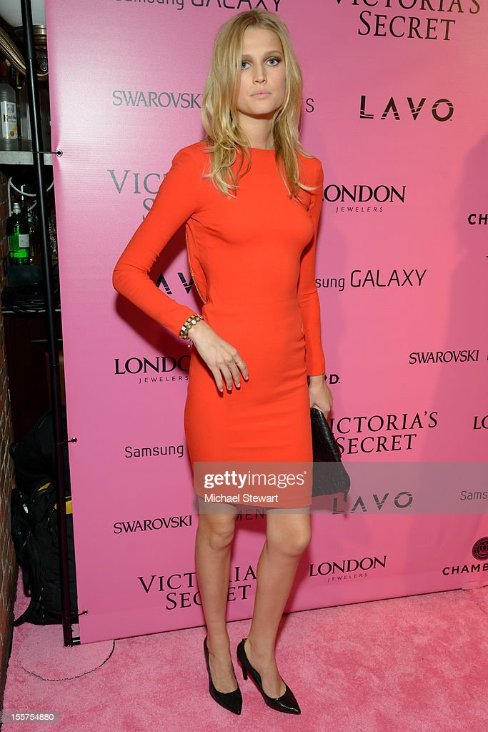 Model Toni Garrn attends the after party for the 2012 Victoria's Secret Fashion Show at Lavo NYC on November 7, 2012 in New York City.