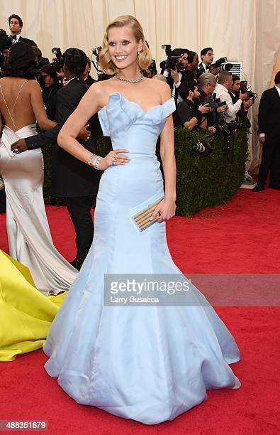 Model Toni Garrn attends the 'Charles James Beyond Fashion' Costume Institute Gala at the Metropolitan Museum of Art on May 5 2014 in New York City