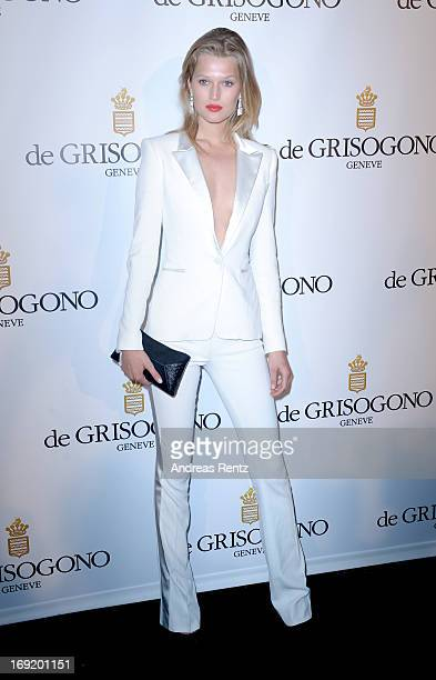 Model Toni Garrn attends the 'De Grisogono' Party during The 66th Annual Cannes Film Festival at Hotel Du Cap Eden Roc on May 21 2013 in Antibes...