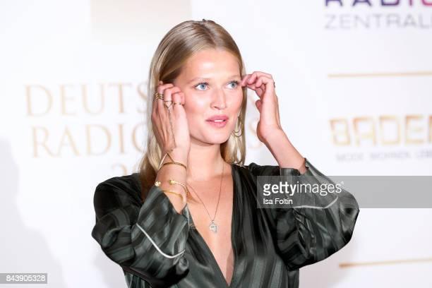 Model Toni Garrn attends the 'Deutscher Radiopreis' at Elbphilharmonie on September 7 2017 in Hamburg Germany