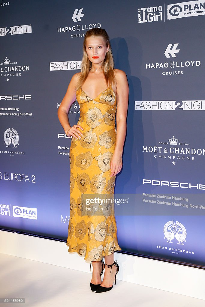 Model Toni Garrn attends the Fashion2Night event at EUROPA 2 on August 23 2016 in Hamburg Germany