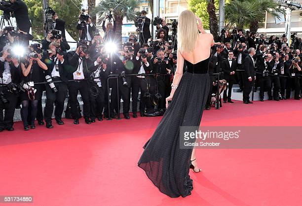 Model Toni Garrn attends the 'Loving' premiere during the 69th annual Cannes Film Festival at the Palais des Festivals on May 16 2016 in Cannes France