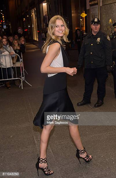 Model Toni Garrn attends the V Magazine Party at Rockefeller Center on February 17 2016 in New York City