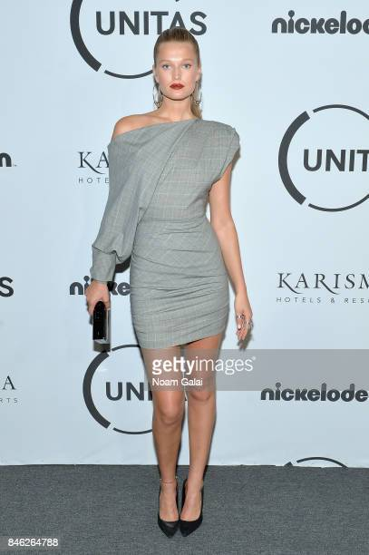 Model Toni Garrn attends Unitas Third Annual Gala Against Human Trafficking at Capitale on September 12 2017 in New York City