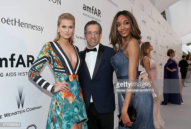 Model Toni Garrn designer Kenneth Cole and model Jourdan Dunn attend amfAR's 22nd Cinema Against AIDS Gala Presented By Bold Films And Harry Winston...